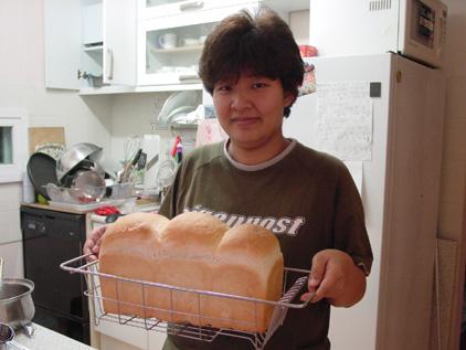 대형식빵을 굽다