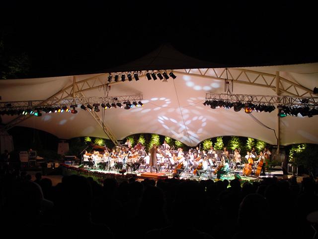 용문산 골짜기의 야외 음악회