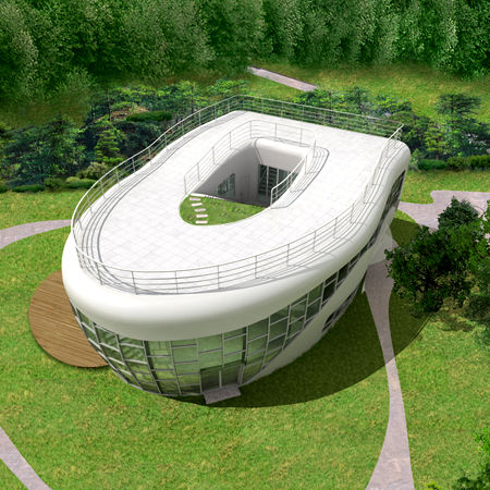 Toilet-Shaped House (화장실 변기 모양의 주택)